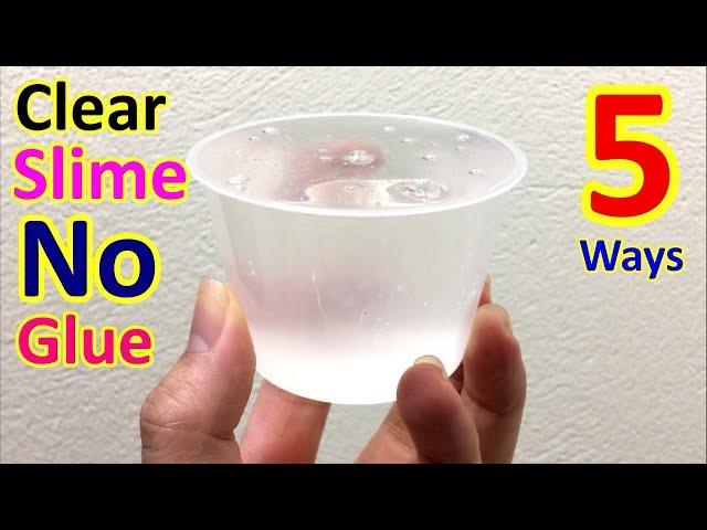 5 Ways No Glue Slime Recipes How To Make Clear Without Or Borax